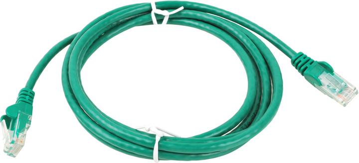 UTP kabel rovný kat.6 (PC-HUB) - 5m, zelená