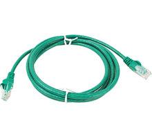 UTP kabel rovný kat.6 (PC-HUB) - 3m, zelená