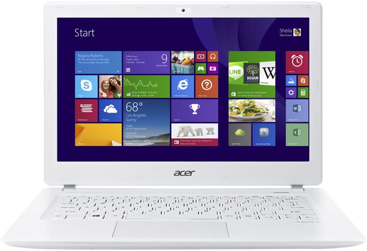 Acer Aspire V13 (V3-371-3565), bílá