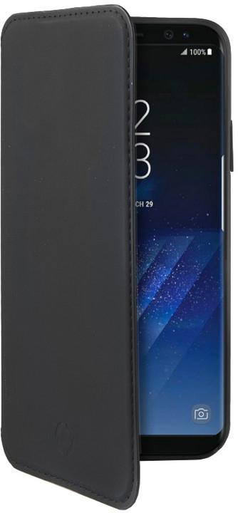 CELLY Prestige pouzdro typu kniha pro Samsung Galaxy S8, PU kůže, černé