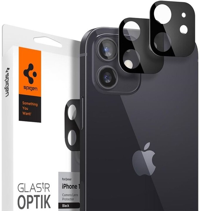 Spigen ochranné sklo Glas.tR pro čočku fotoaparátu iPhone 12, 2ks