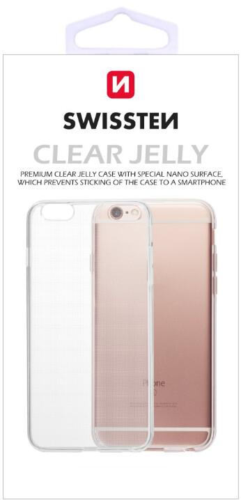 SWISSTEN ochranné pouzdro Clear Jelly pro iPhone 5/5S/SE, transparentní