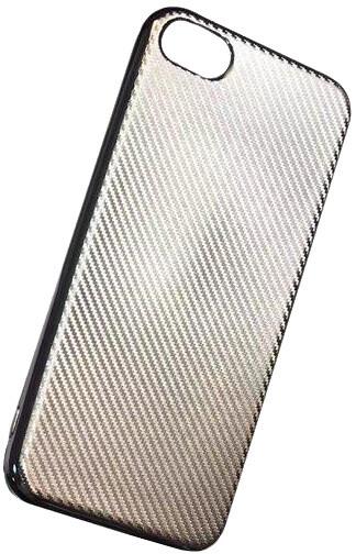 Forever silikonové (TPU) pouzdro pro Apple iPhone 5/5S, carbon/champagne