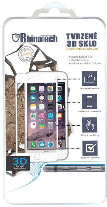 RhinoTech 2 Tvrzené ochranné 3D sklo pro Apple iPhone 6/6S, bílé