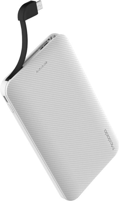 Mcdodo powerbanka 5000mAh s kabelem microUSB, bílá