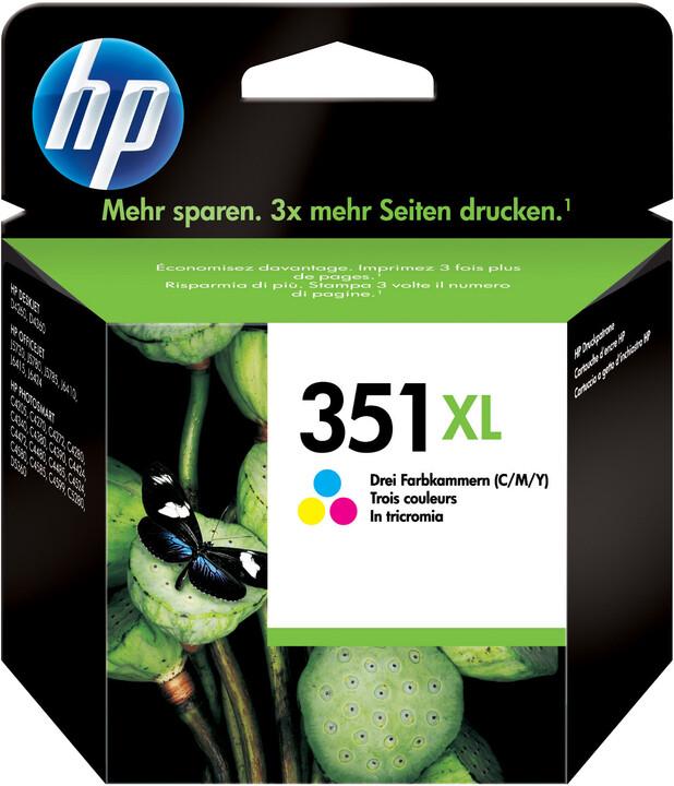 HP CB338EE, no.351, barevná – ušetřete až 50 % oproti standardní náplni