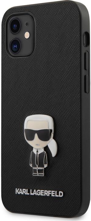 "KARL LAGERFELD ochranný kryt Saffiano Iconic pro iPhone 12 Mini (5.4""), černá"
