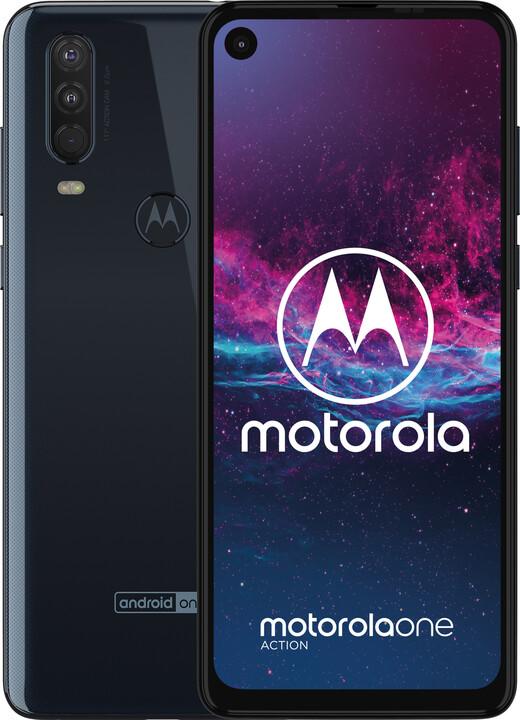 Motorola One Action, 4GB/128GB, Dual SIM, Denim Blue