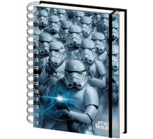 Zápisník Star Wars - 3D Stormtroopers, kroužková vazba (A5) - SR71796