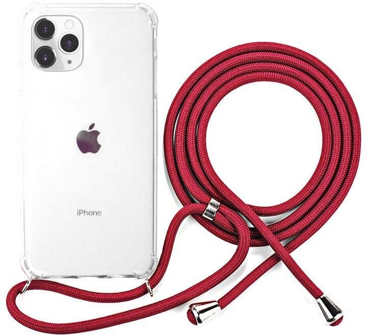 EPICO ochranný kryt Nake String pro iPhone 11 Pro Max, bílá transparentní/červená