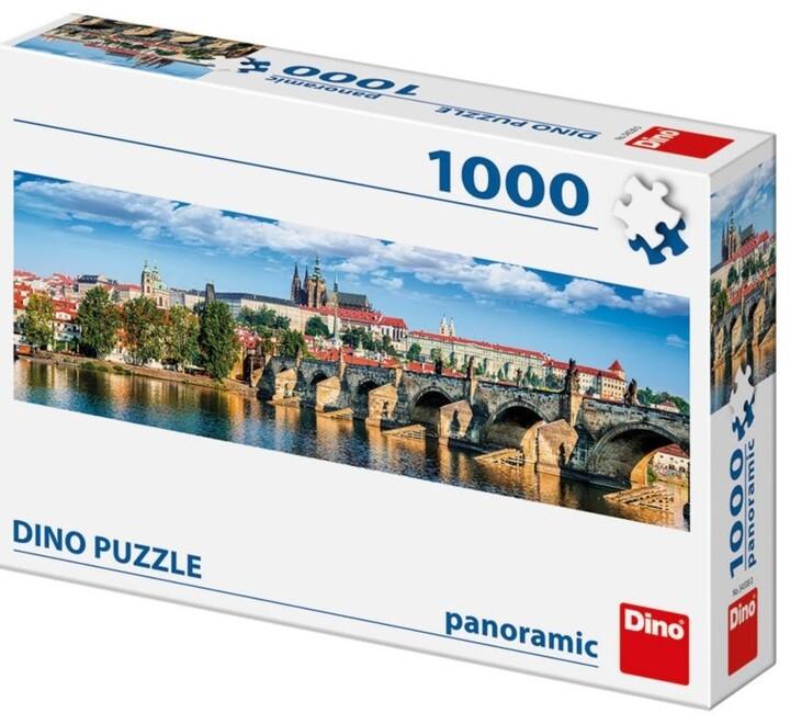 Puzzle Dino Panoramatické Hradčany, 1000 dílků