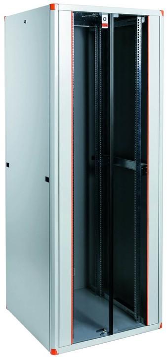 """Legrand EvoLine 19"""" stojanový rozvaděč - 44U, 800x800mm, 1000kg, dvoukřídlé skleněné dveře"""
