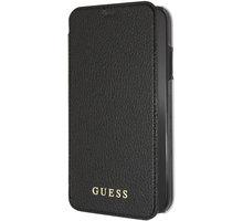 GUESS pouzdro PU Leather Book Iridescent pro iPhone XR, černá GUFLBKI61IGLBK