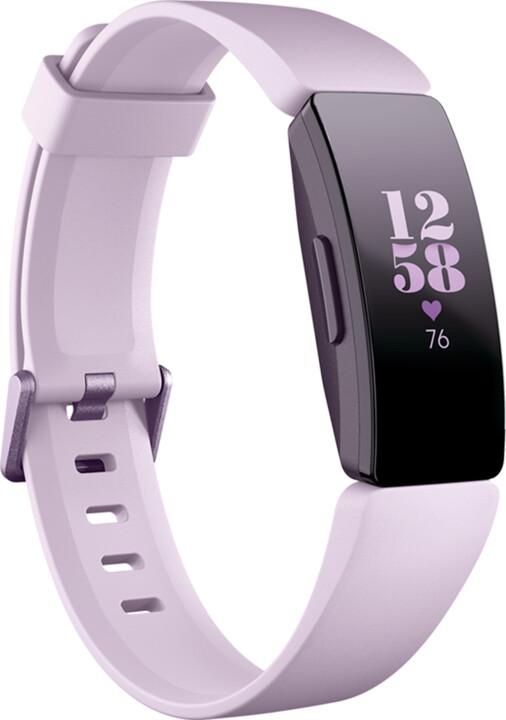 Fitbit Inspire HR, růžová