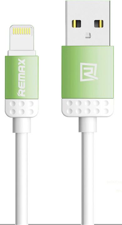 Remax Lovely datový kabel s lightning pro iPhone 5/6, 1m, zelená
