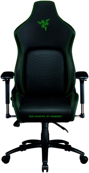 Razer Iskur, černá/zelená