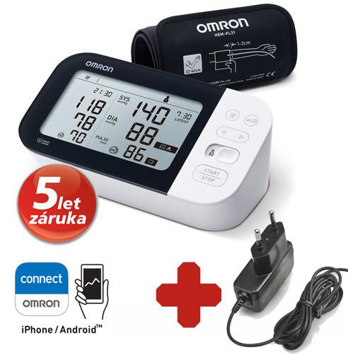 OMRON digitální tlakoměr M7 Intelli IT s AFib, na paži + síťový zdroj