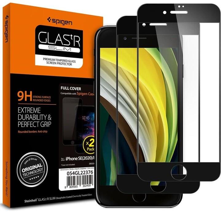 Spigen ochranné sklo FC pro iPhone 7/8/SE(2020), 2ks