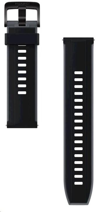 Huawei silikonový řemínek pro Watch GT/GT2 (46mm), 22mm, černá