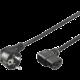 PremiumCord kabel síťový 230V k počítači 3m, IEC konektor do úhlu 90°