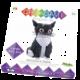 Skládačka CreativaMente Creagami Kočka, L, papírová (CZ)