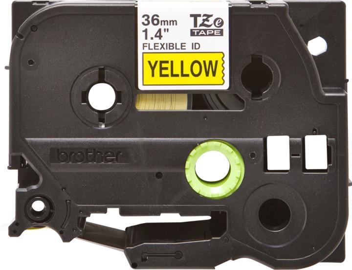 Brother páska - TZ-FX661, žlutá / černá, 36 mm