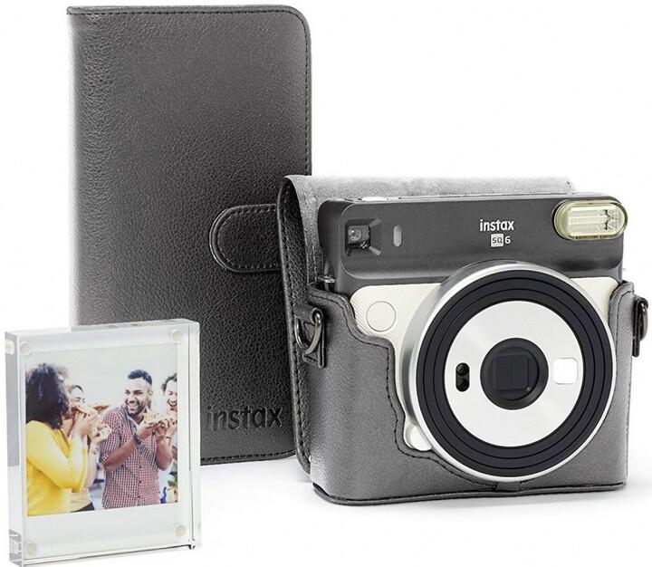 Fujifilm Instax Square SQ6 + Accessory Kit + film 1x10, bílá