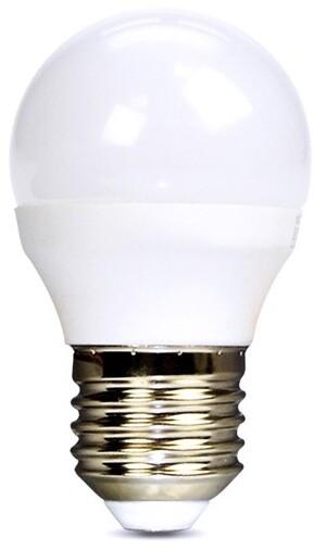 Solight žárovka, miniglobe, LED, 6W, E27, 6000K, 510lm, bílá