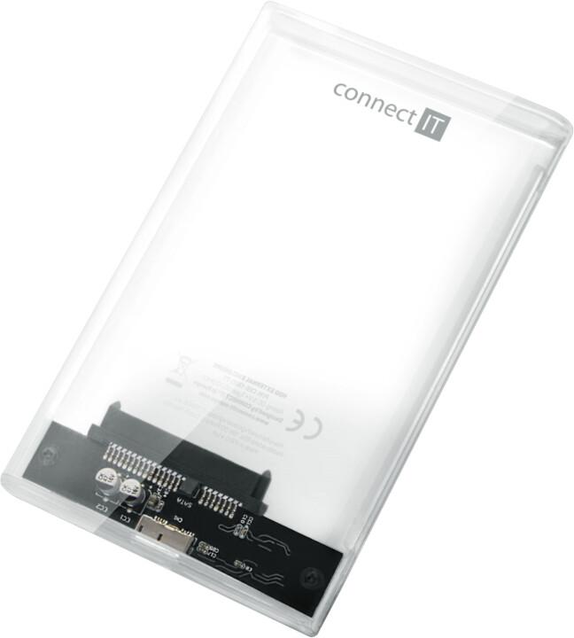 Externí box Connect IT ToolFree Clear, transparentní