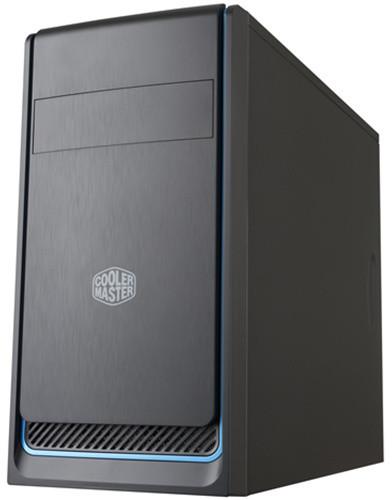 CoolerMaster MasterBox E300L, černá, modrý rámeček