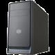 Cooler Master MasterBox E300L, černá, modrý rámeček