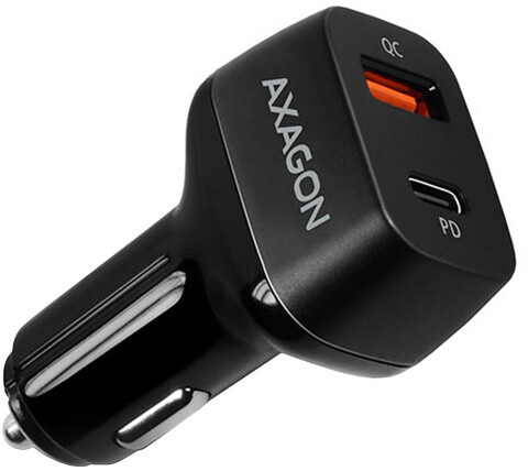 AXAGON PD a QUICK nabíječka do auta, 2x port QC3.0/AFC/FCP/SCP + PD type-C, 47W