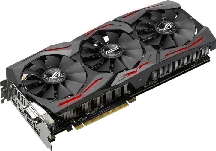 ASUS GeForce ROG STRIX GAMING GTX1070 OC DirectCU III, 8GB GDDR5