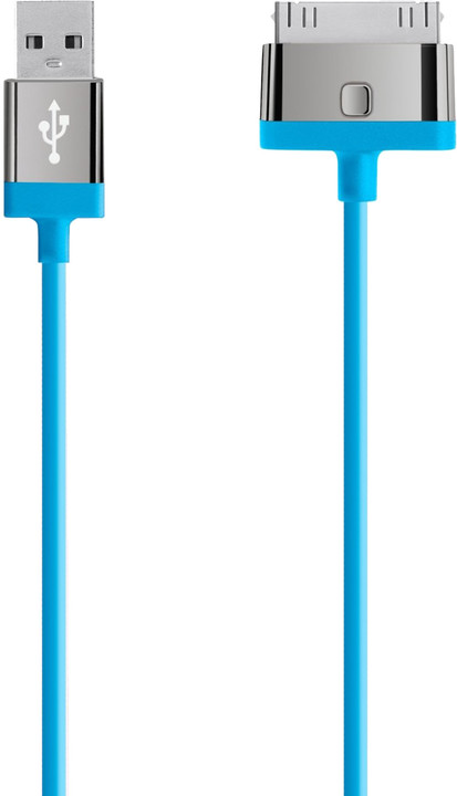 Belkin USB/30-pin Apple, 2m, modrá