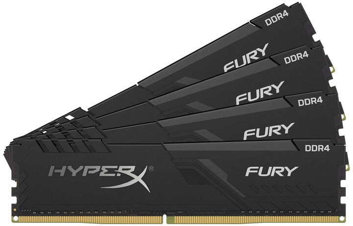 HyperX Fury Black 32GB (4x8GB) DDR4 3200 CL16, black