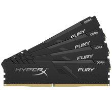 HyperX Fury Black 16GB (4x4GB) DDR4 2400 CL15 O2 TV Sport Pack na 3 měsíce (max. 1x na objednávku)