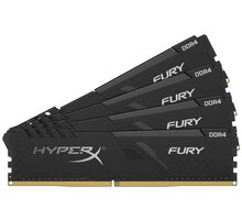 HyperX Fury Black 64GB (4x16GB) DDR4 3000 CL16 CL 16 - HX430C16FB4K4/64
