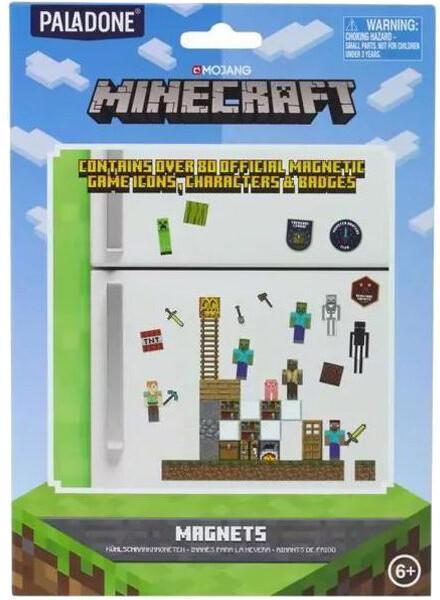 Magnety na lednici Minecraft, set 48ks