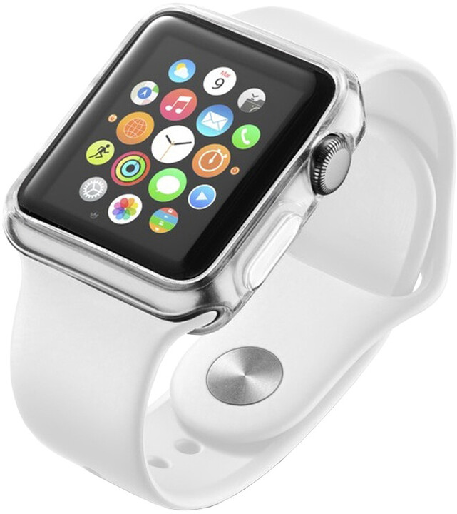 CellularLine průhledný kryt pro Apple Watch 38mm