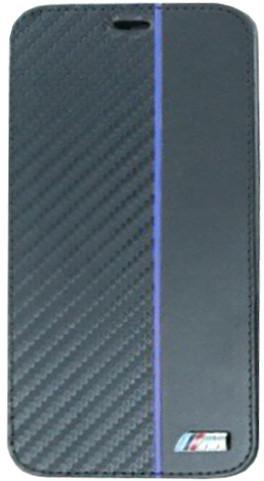 BMW Carbon pouzdro typu kniha Transparent/Navy pro iPhone X