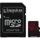 Kingston Micro SDXC Canvas React 64GB 100MB/s UHS-I U3 + SD adaptér