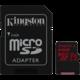 Kingston Micro SDXC Canvas React 64GB 100MB/s UHS-I + SD adaptér  + 300 Kč na Mall.cz