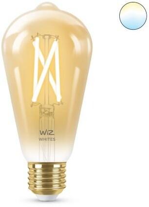 WiZ WZE21016411-A ST64, E27 2200K Dimmable Filament Amber Gen 2 - 500lm - WiFi