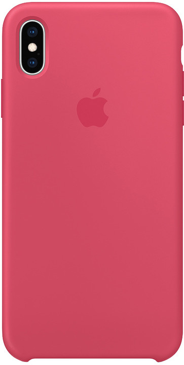 Apple silikonový kryt na iPhone XS Max, ibišková