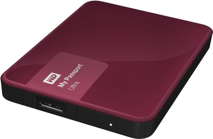 WD My Passport Ultra - 3TB, berry