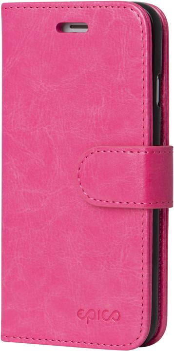 EPICO FLIP kožené pouzdro pro iPhone 7/8 - tmavě růžové