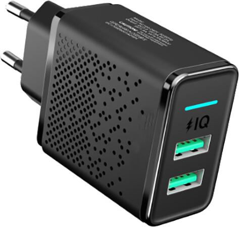 MAX síťová nabíječka s2x USB, černá