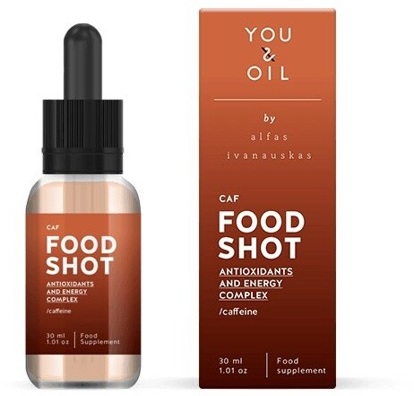 You & Oil FOOD SHOT Energie a antioxidanty - s kofeinem (30 ml)