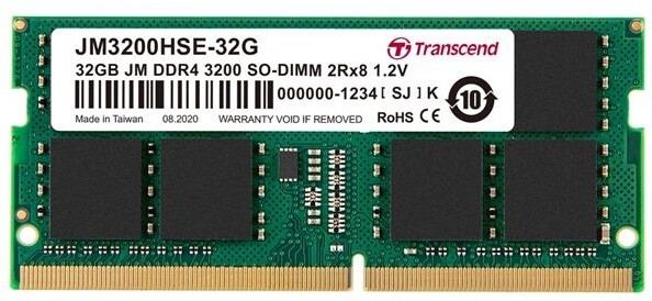Transcend 32GB DDR4 3200 CL22 SO-DIMM