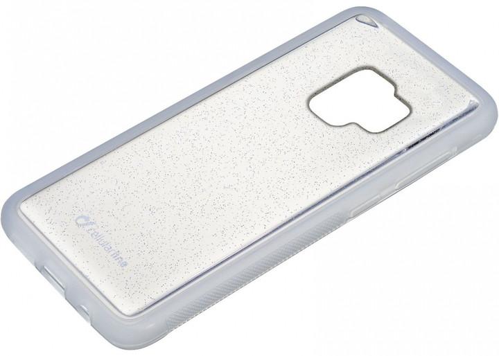 CellularLine adhezivní zadní kryt SELFIE CASE pro Samsung Galaxy S9 Plus, transparentní
